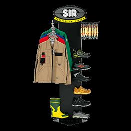 服装和鞋展示架